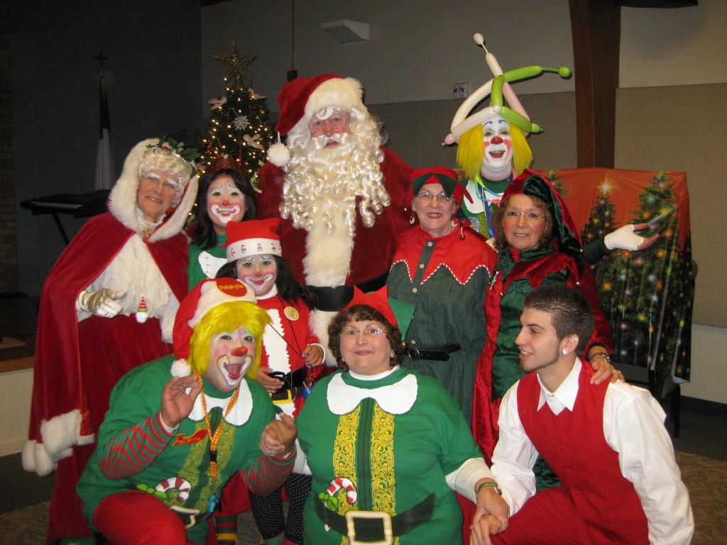 JCA Members with Santa