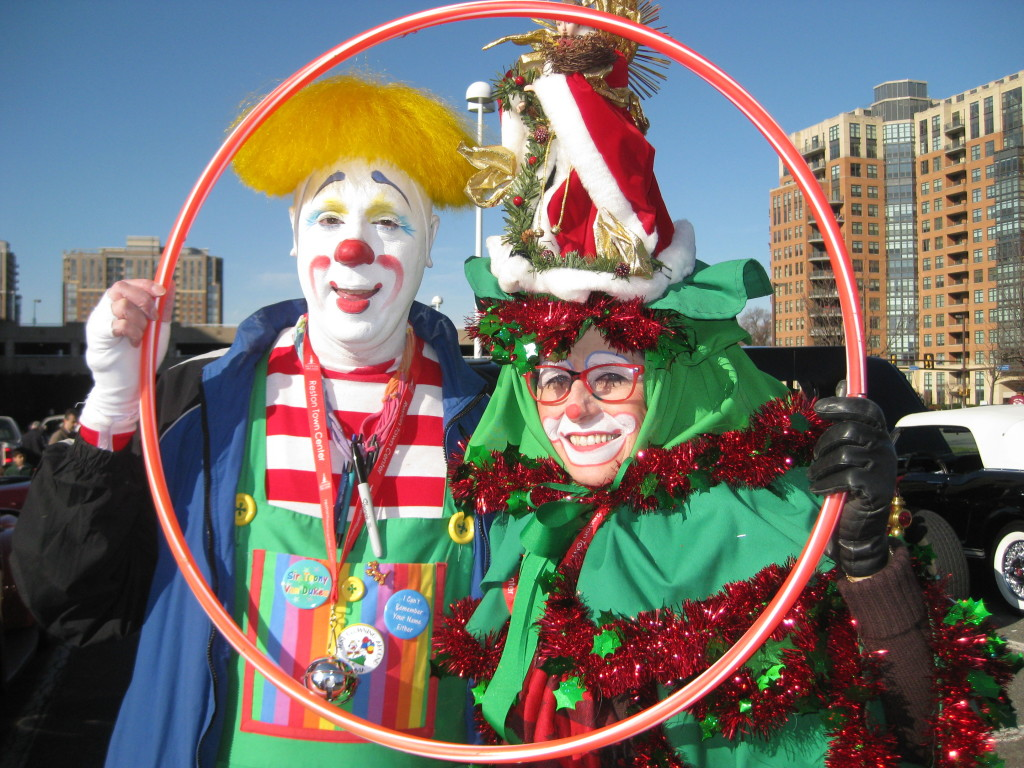 Sir Toony and Fancy at the Reston Holiday Parade