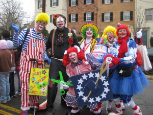 JCA members (and a few friends) at the George Washington Birthday Parade in Alexandria, VA.